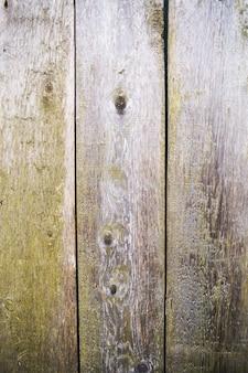 Struttura in legno molto vecchia, carpenteria, parete del primo piano