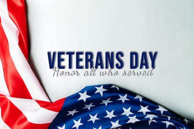 Giornata dei veterani e bandiera americana