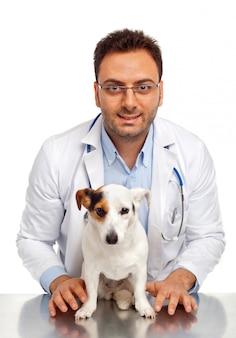 Veterinario e cane