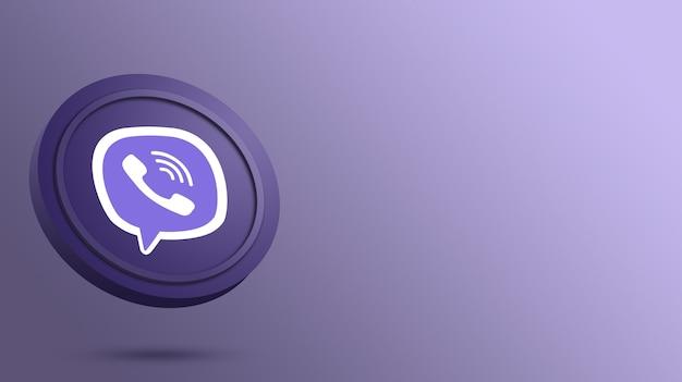 Logo viber sul rendering del pulsante rotondo