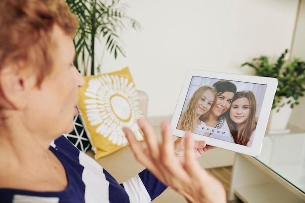 Videochiamata di famiglia