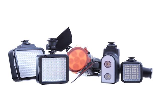 Illuminazione video isolata su bianco