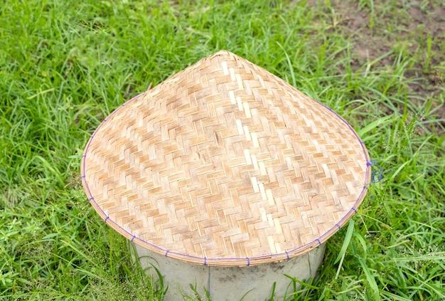 Cappello conico vietnamita (non la). immagine in primo piano.