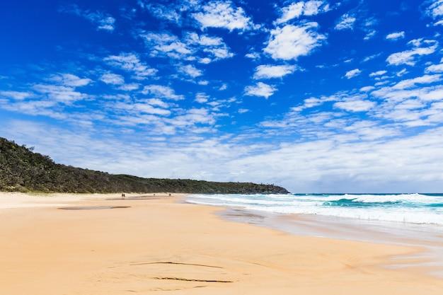 Vista del parco nazionale di alexandria noosa bay nel queensland, australia