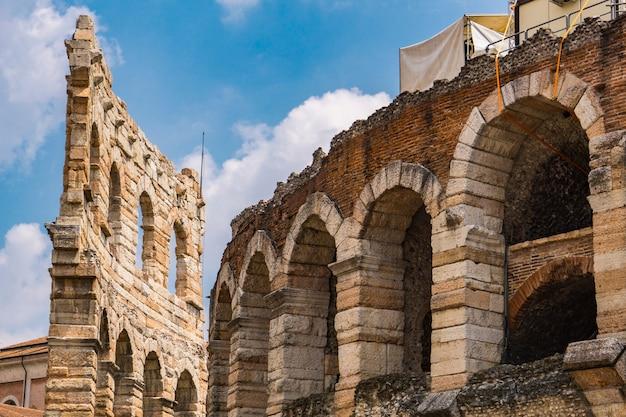 Vista all'antica arena di verona in italia