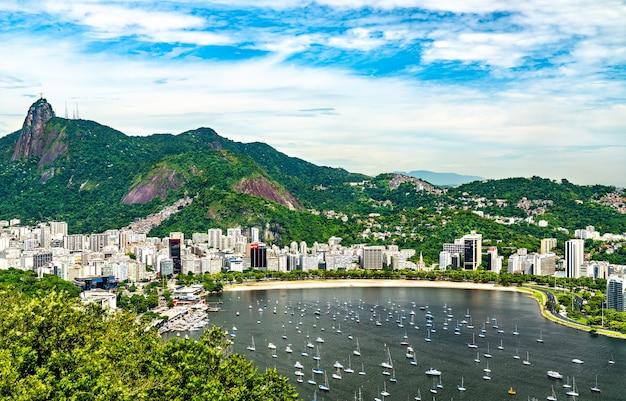 Vista di botafogo, un quartiere fronte mare di rio de janeiro