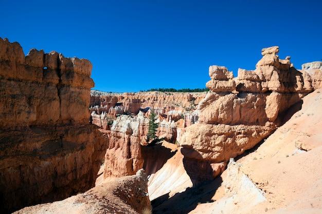Vista del famoso sentiero navajo nel bryce canyon, utah