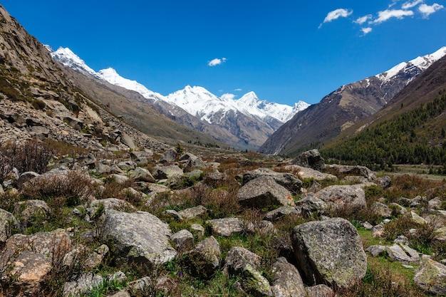 Vista dal villaggio di chitkul himachal pradesh