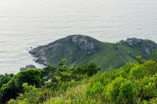 Vista dall'alto della pietra del telegrafo a rio de janeiro
