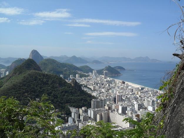 Vista della collina di capre vista a rio de janeiro, brasile.