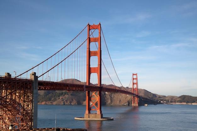 Veduta del golden gate bridge. san francisco, california, stati uniti d'america