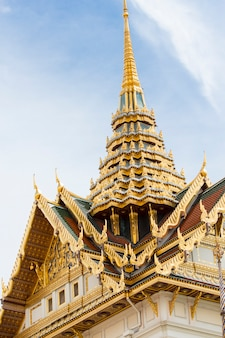 Vista al grand palace a bangkok, in thailandia