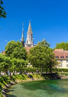 Vista della cattedrale di costanza in germania