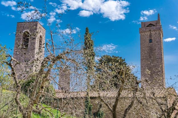 Vista al centro storico di san gimignano in toscana, italia