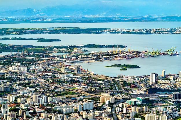 Vista del porto di rio de janeiro dal corcovado in brasile