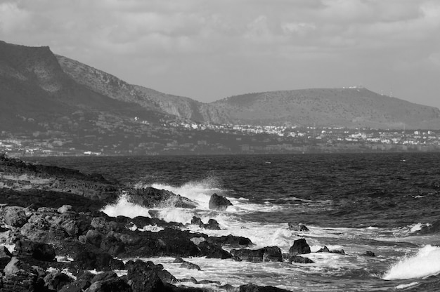 Vista della località turistica di stalida sull'isola di creta.