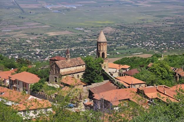 La vista di signagi e alazani valley in georgia