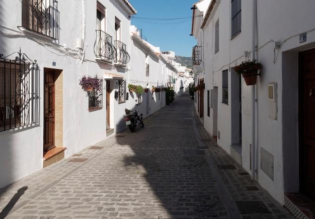 Vista delle strade del villaggio di mijas, spagna