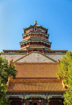 Vista del palazzo d'estate a pechino, cina