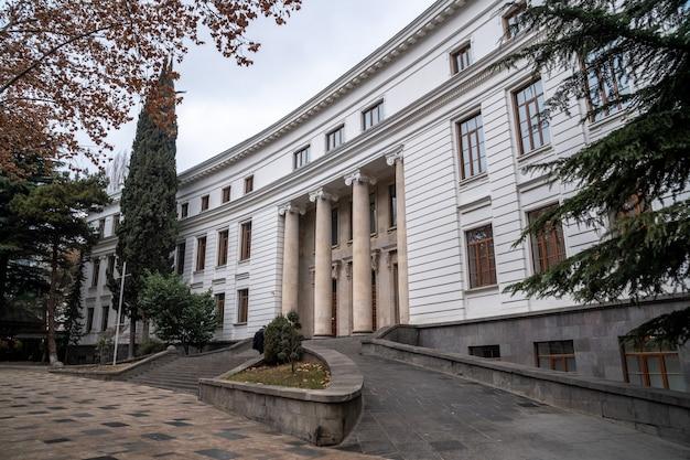 Vista dell'università statale di tbilisi, fondata 1918