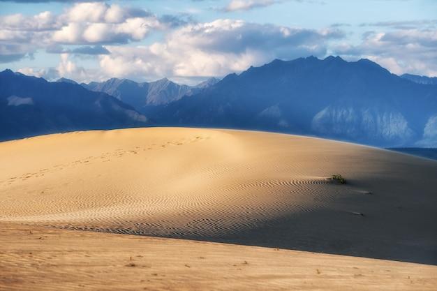 Vista del vasto deserto del sahara