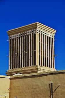 L'edificio vinatge nella città antica yazd iran