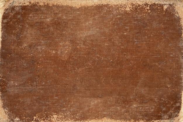 Copertina del libro vintage marrone. trama di tela. usare per lo sfondo.
