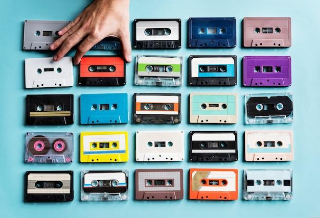 Collezione di cassette vintage