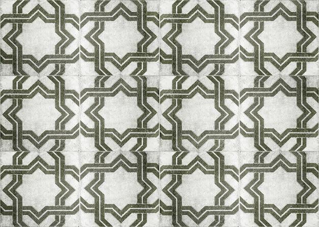 Decorazione della parete di piastrelle di ceramica dell'annata, priorità bassa della parete di piastrelle in ceramica.