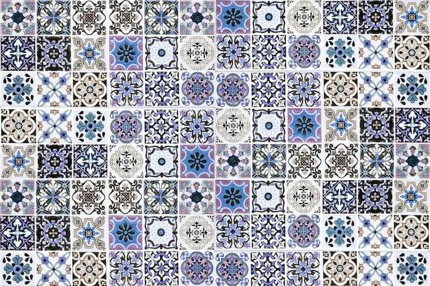 Decorazione della parete di piastrelle di ceramica d'epoca priorità bassa della parete di piastrelle di ceramica turca