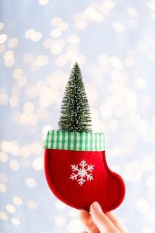 Sfondo di natale vintage con decorazioni natalizie biglietto di auguri di natale