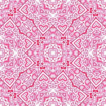 Vintage damascato senza soluzione di continuità ornamentale acquerello arabesco vernice piastrella design pattern per tessuto