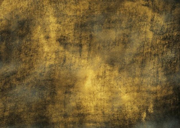 Oro vintage e struttura nera del grunge. fondo dorato schizzato astratto. arte contemporanea o moderna con griglia e motivo di rumore sottile