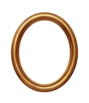 Cornice rotonda ovale dorata vintage