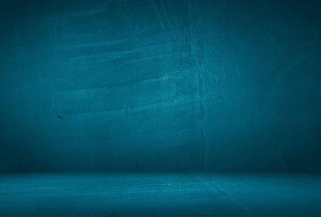 Fondo della parete dello studio di struttura del cemento blu del grunge dell'annata con la scenetta