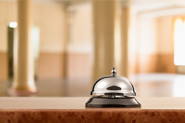 Campanello d'epoca della reception dell'hotel.