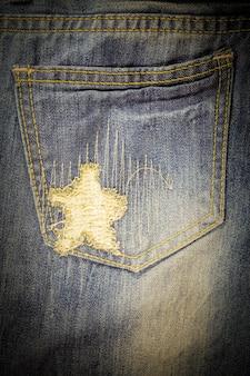 Jeans vintage strappati texture denim.