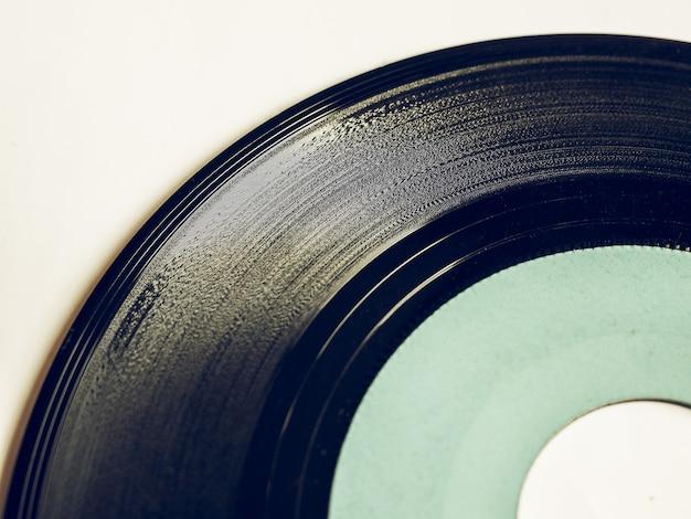 Disco in vinile dall'aspetto vintage