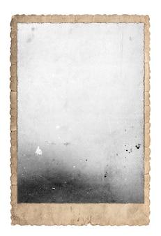 Cornice per foto vintage per foto e immagini. carta usata isolata