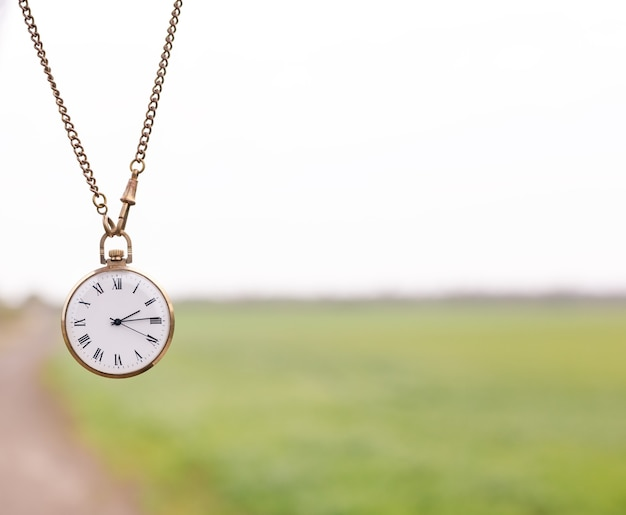 Priorità bassa del primo piano dell'orologio da tasca dell'annata