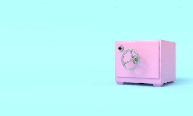 Illustrazione d'annata del deposito sicuro con il posto vuoto per la rappresentazione del testo 3d
