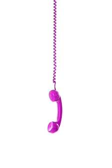 Telefono vintage appeso.