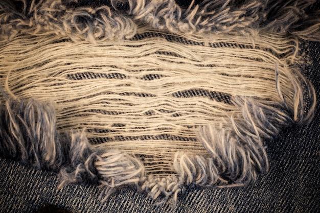 Texture vintage jeans denim strappato