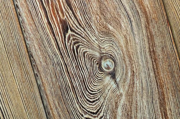 Struttura in legno vintage con nodi. vista dall'alto del primo piano per lo sfondo o le opere d'arte.