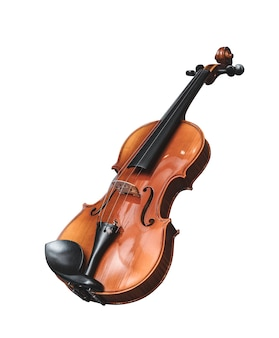 Violino isolato su bianco