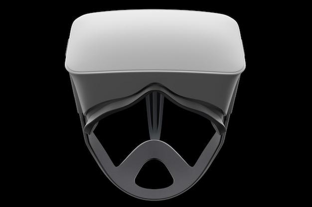 Occhiali per realtà virtuale isolati su nero con tracciato cliping d rendering