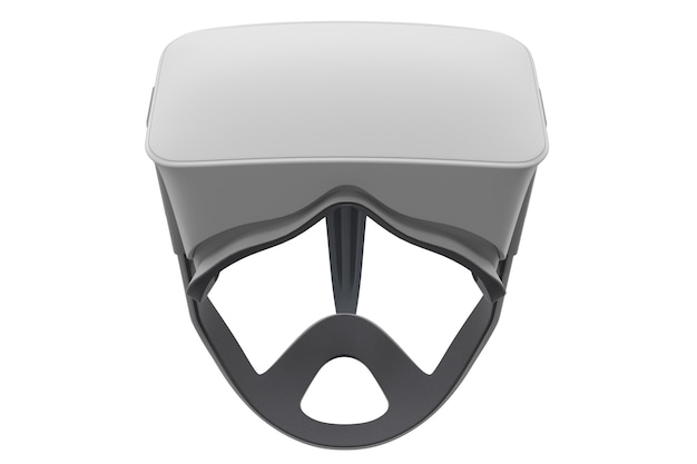 Occhiali per realtà virtuale isolati su bianco con tracciato cliping d rendering