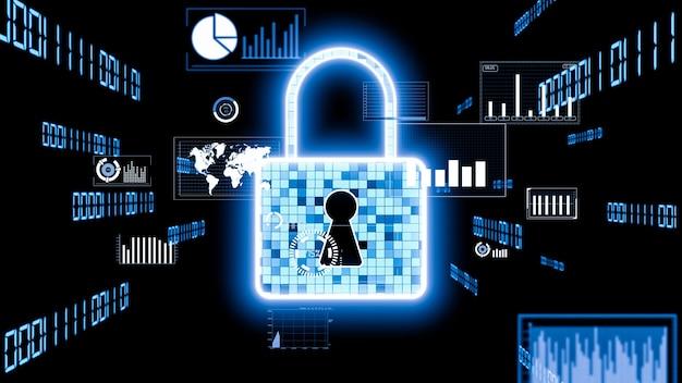 Tecnologia visionaria di crittografia della sicurezza informatica per proteggere la privacy dei dati