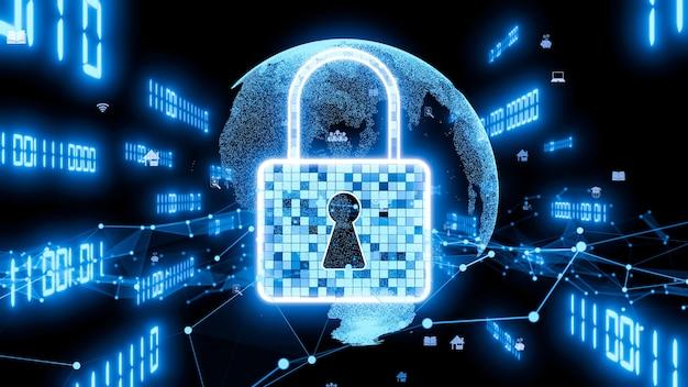 Tecnologia di crittografia della sicurezza informatica visionaria per proteggere la privacy dei dati