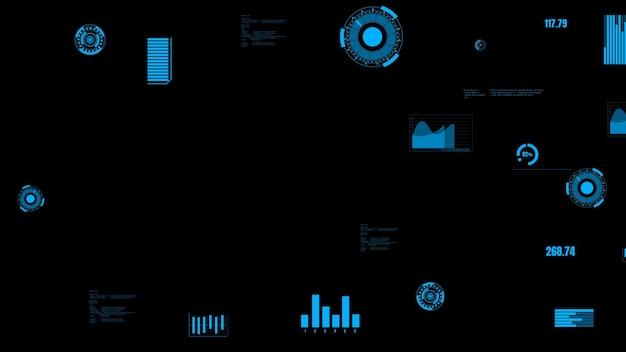 Dashboard dei dati del settore visionario che presenta lo stato della macchina